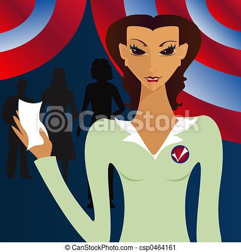 Her Vote Counts - csp0464161