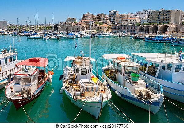 Heraklion harbour. Crete, Greece - csp23177760
