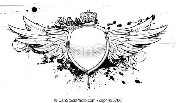 heraldic, グランジ, 保護 - csp4435760