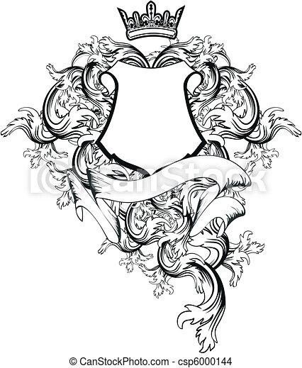 heraldic coat of arms copyspace7 heraldic coat of arms eps rh canstockphoto com sg coat of arms vector elements coat of arms vector pack