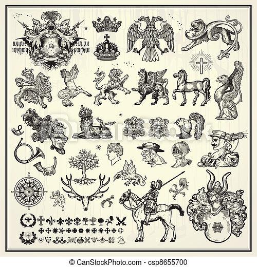 heraldic design elements - csp8655700