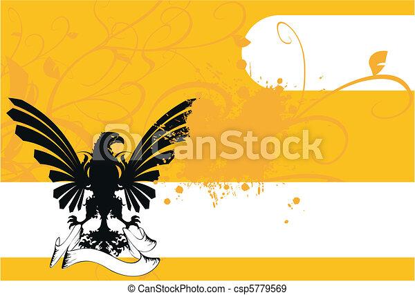 heraldic eagle coat of arms6 - csp5779569