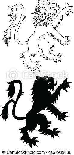 Heraldic lion - csp7909036