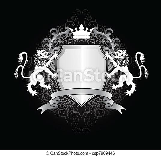 Heraldic lion - csp7909446