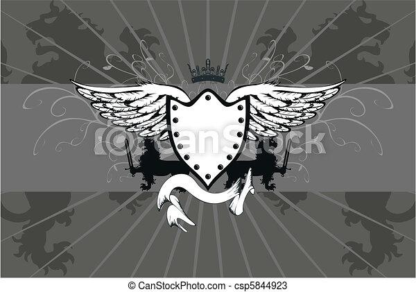 heraldic lion coat of arms05 - csp5844923