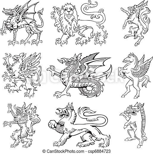 Heraldic monsters vol III - csp6884723
