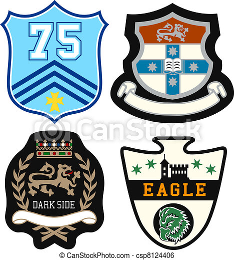 heraldic royal emblem badge - csp8124406