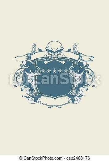heraldic shield - csp2468176