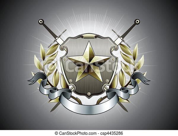 heraldic shield - csp4435286