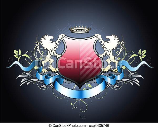 heraldic shield - csp4435746
