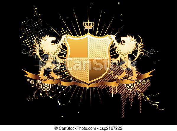 heraldic shield - csp2167222