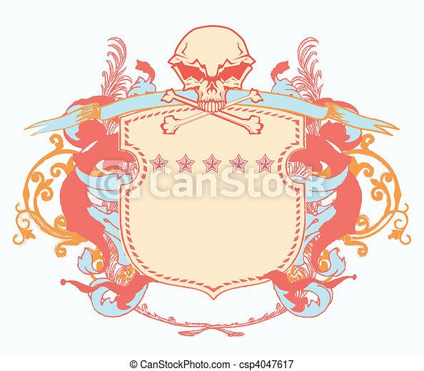 heraldic shield - csp4047617