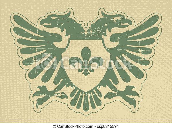 Heraldic stamp - csp8315594