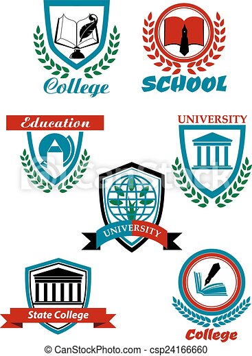 Heraldic Symbols For University And College Education Design