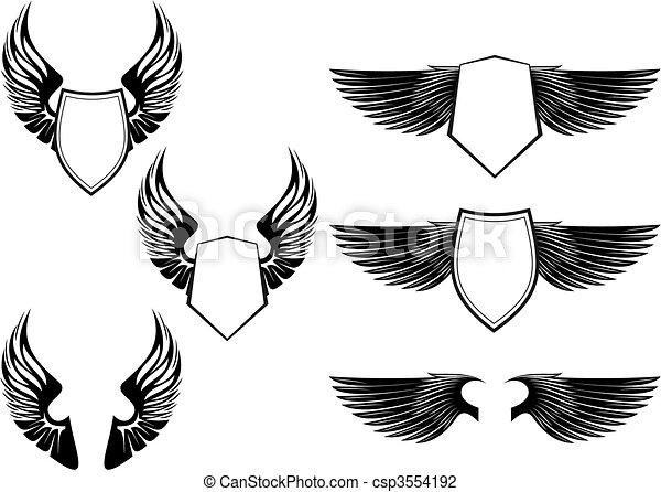 Heraldic symbols - csp3554192