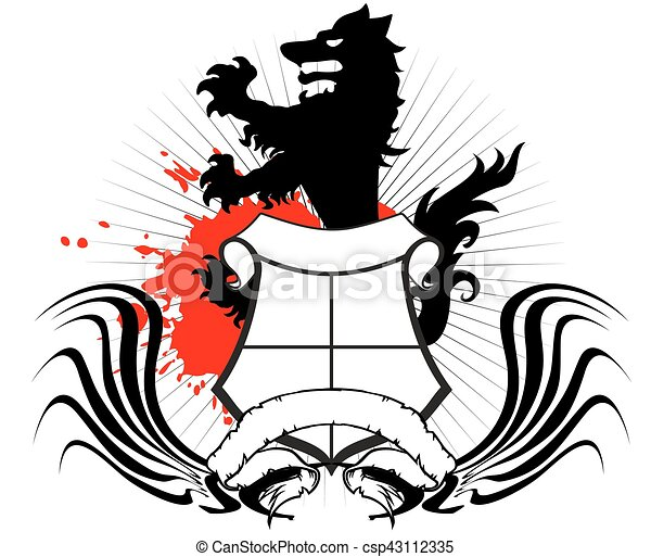 heraldic wolf coat of arms crest tattoo in vector format vectors rh canstockphoto ca heraldry clipart download heraldry clipart