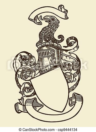 heraldik, skydda - csp9444134