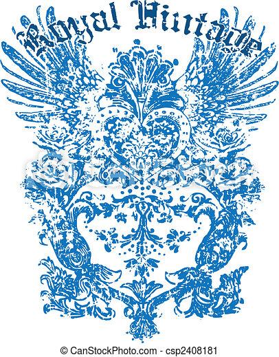 heraldisch, ontwerp, vleugel - csp2408181