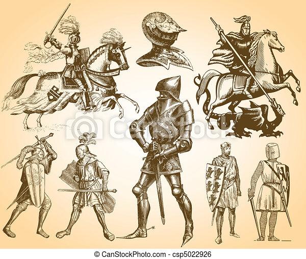 Heraldry Knights - csp5022926