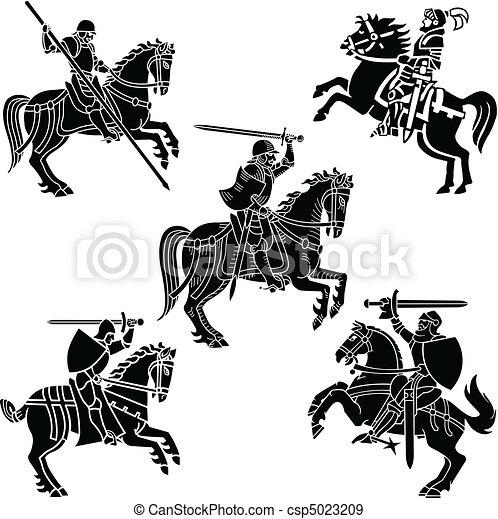 Heraldry Knights - csp5023209