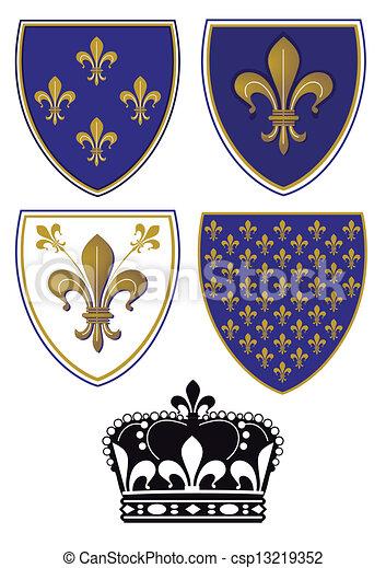 Heraldry Lily - csp13219352