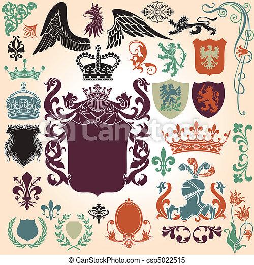 Heraldry Ornament Set - csp5022515