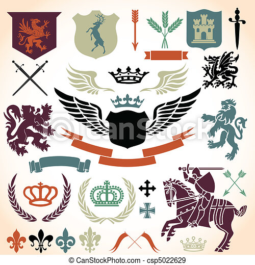 Heraldry Ornament Set  - csp5022629