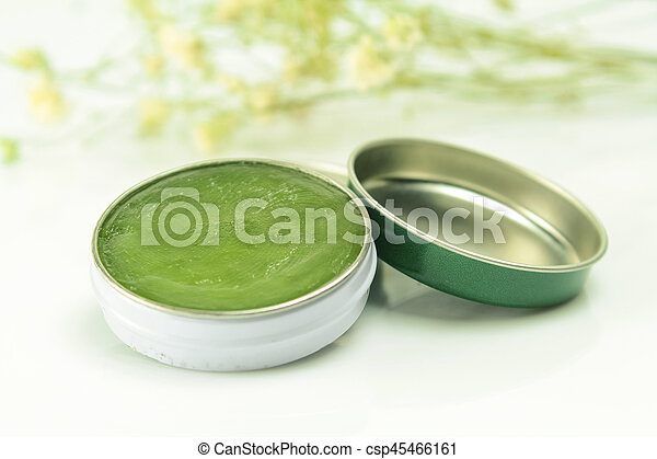 herbal balm, use for relieve cold symptoms - csp45466161