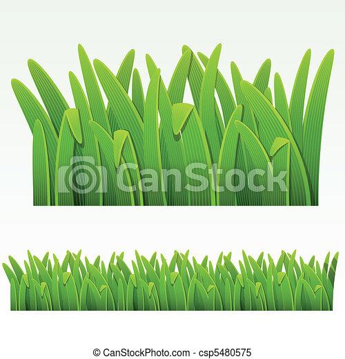 herbe, frontière - csp5480575
