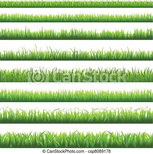 herbe verte, frontière - csp8089178