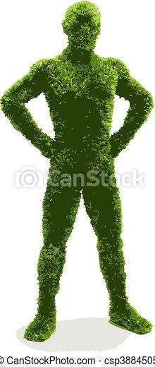 herbier, (vector), homme - csp3884505