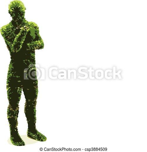 herbier, (vector), homme - csp3884509