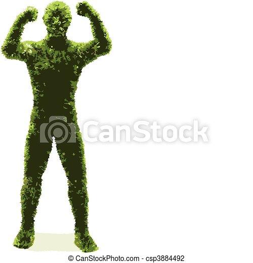 herbier, (vector), homme - csp3884492