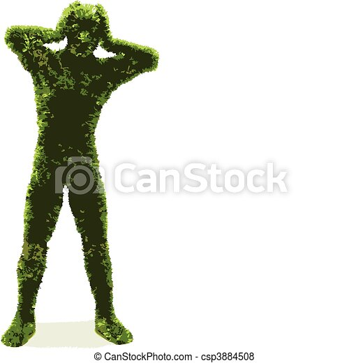 herbier, (vector), homme - csp3884508