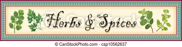 Herbs and Spices Banner - csp10562637