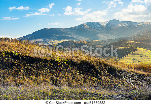 herbst, berge, grasbedeckt, hügel - csp61379882