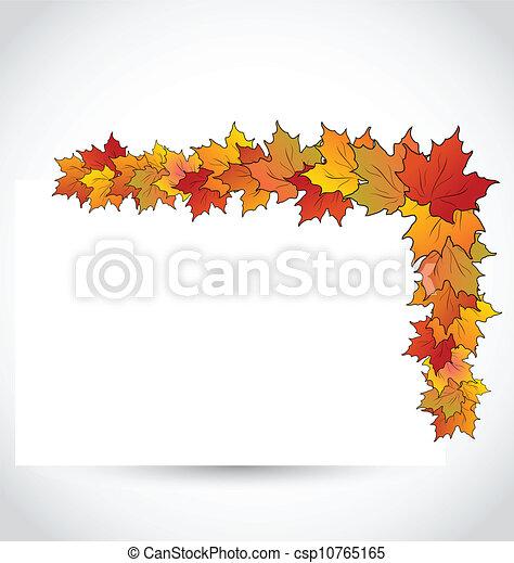 Herbst, bunte, blätter, briefpapier, ahorn. Herbst, bunte ...