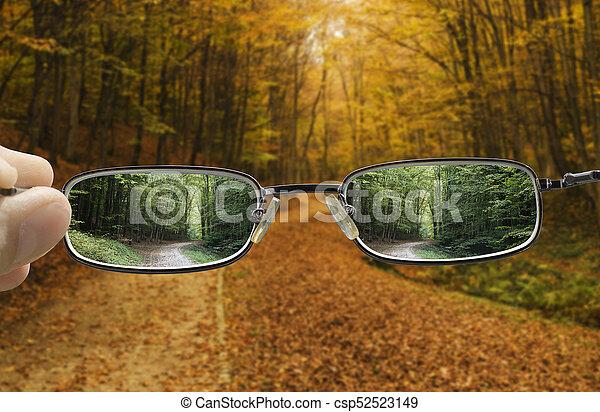 herbst, fruehjahr, drehung, vision - csp52523149
