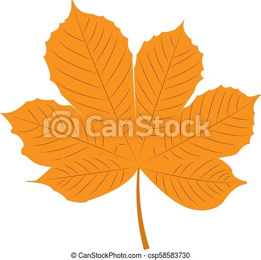 Herbst Kastanie Blatt Kastanie Blatt Freigestellt Abbildung