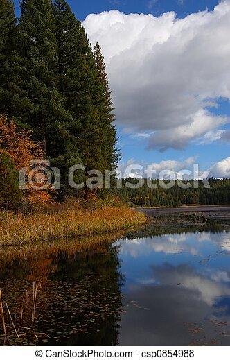 herbst, lakeshore - csp0854988