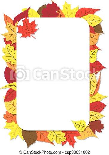 Herbst Rahmen Blätter Herbst Rahmen Vektor Blätter Abbildung