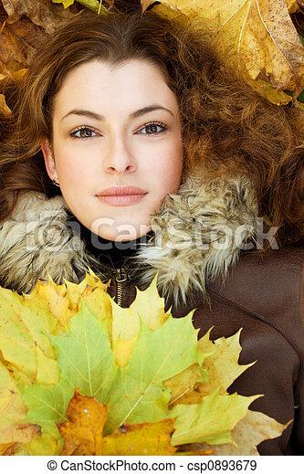 Autumnal portait - csp0893679