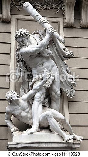 Hercules slaying Augeas - csp11113528