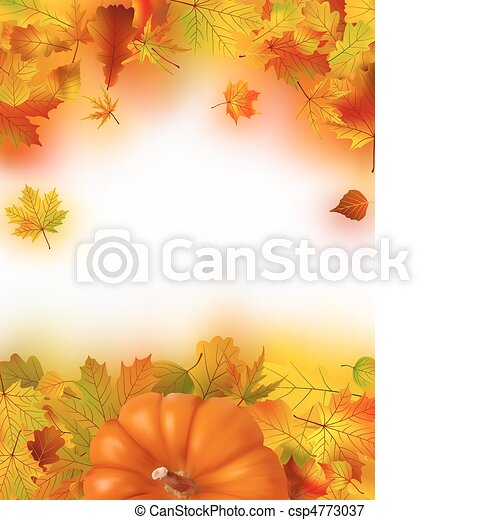 herfst, dankzegging, achtergrond, herfst - csp4773037