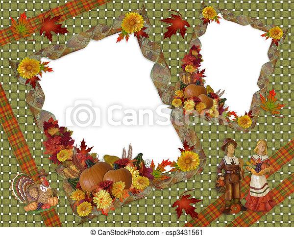 herfst, dankzegging, achtergrond, herfst - csp3431561