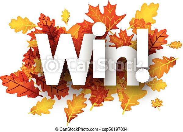 herfst, winnen, leaves., achtergrond - csp50197834