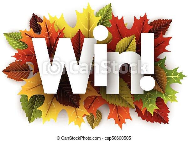 herfst, winnen, leaves., achtergrond - csp50600505