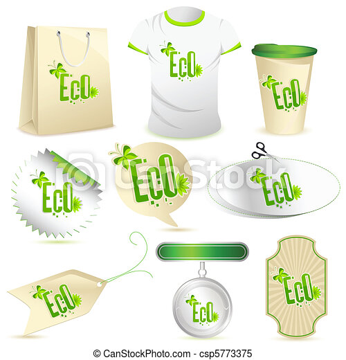 hergebruiken, set, pictogram - csp5773375