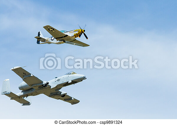 Heritage flight in action - csp9891324