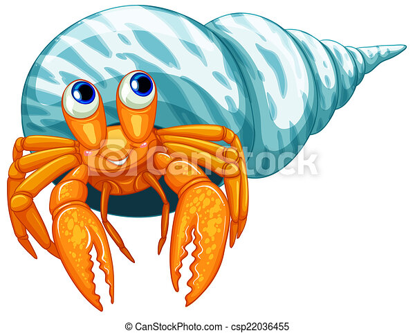 illustration of a closeup hermit crab clipart vector search rh canstockphoto com hermit crab clip art free hermit crab shell clipart